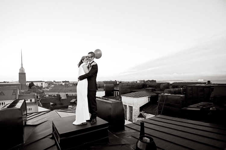 Emilia & Oskar, Theatre Museum, Cable Factory, Helsinki, Wedding