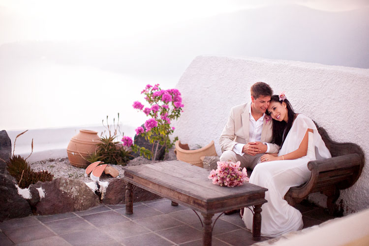 Santorini, Hotel Rocabella Resort & Spa, Hotel Anemos Beach Lounge, Perivolos Beach, Wedding